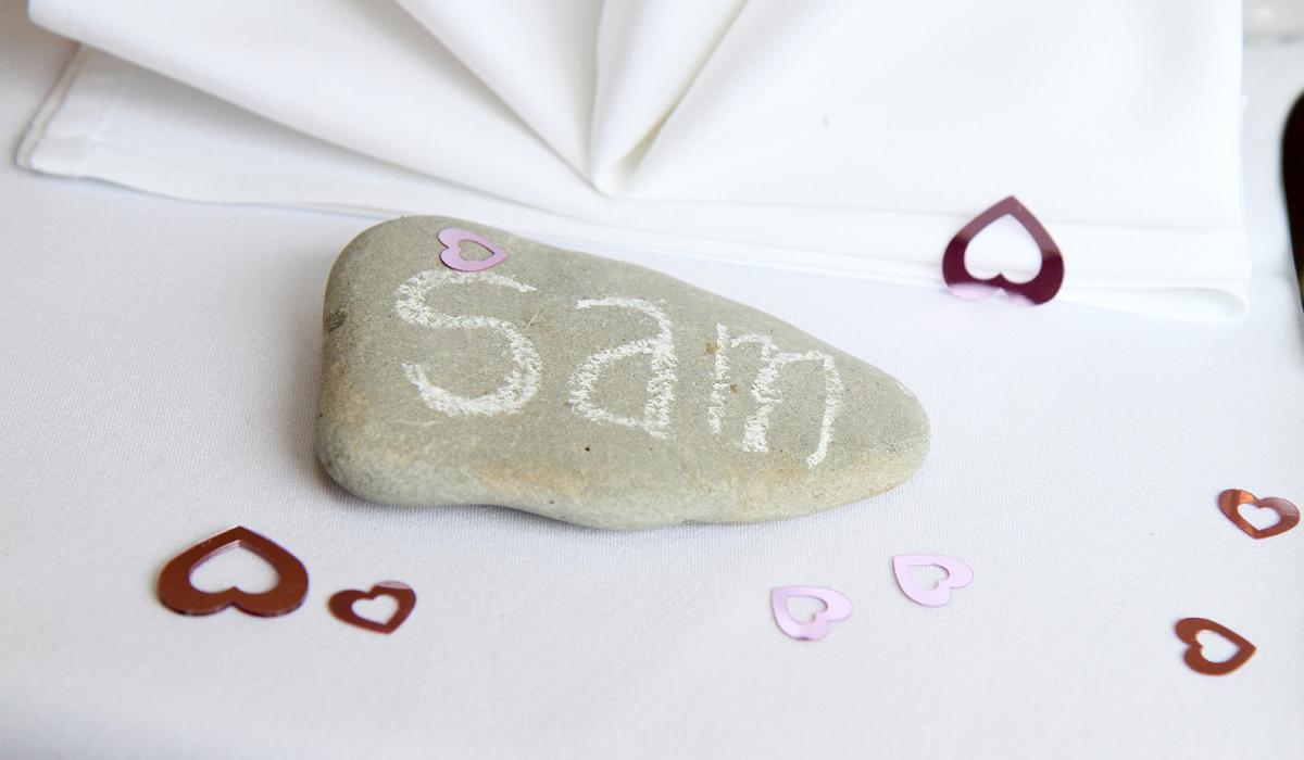 Small stone used as a table name