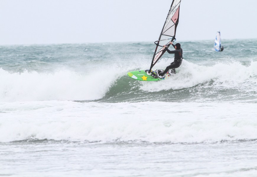 Good Windsurf and Photo Session at Ringstead Bay in Dorset